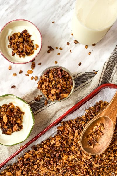 gingerbread granola snack breakfast