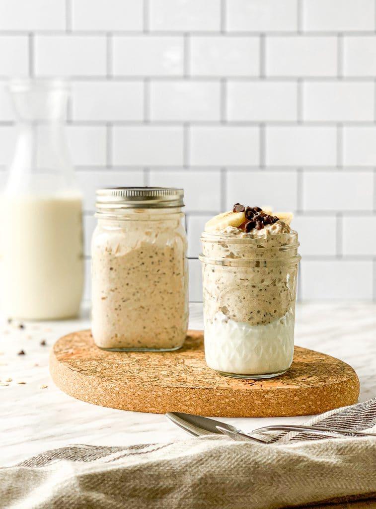 peanut butter oatmeal cookie overnight oats