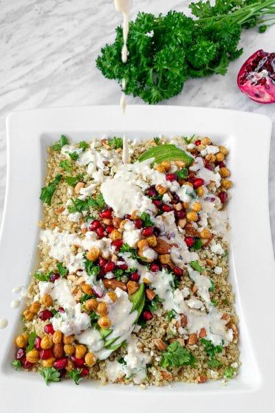 winter pomegranate quinoa salad
