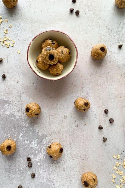 energy bites cookie dough balls