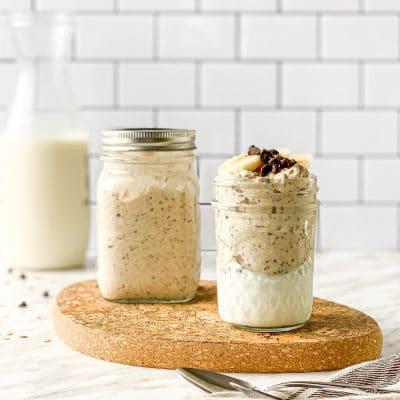 overnight oats peanut butter oatmeal cookie
