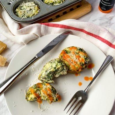 egg cups muffins spinach artichoke