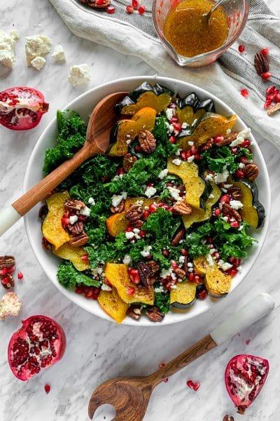 winter salad pomegranate kale