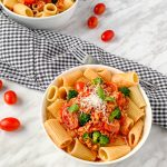 tempeh bolognese vegan pasta