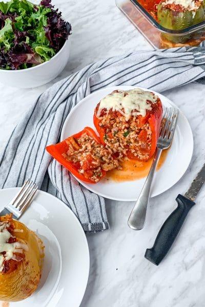 stuffed peppers turkey italian