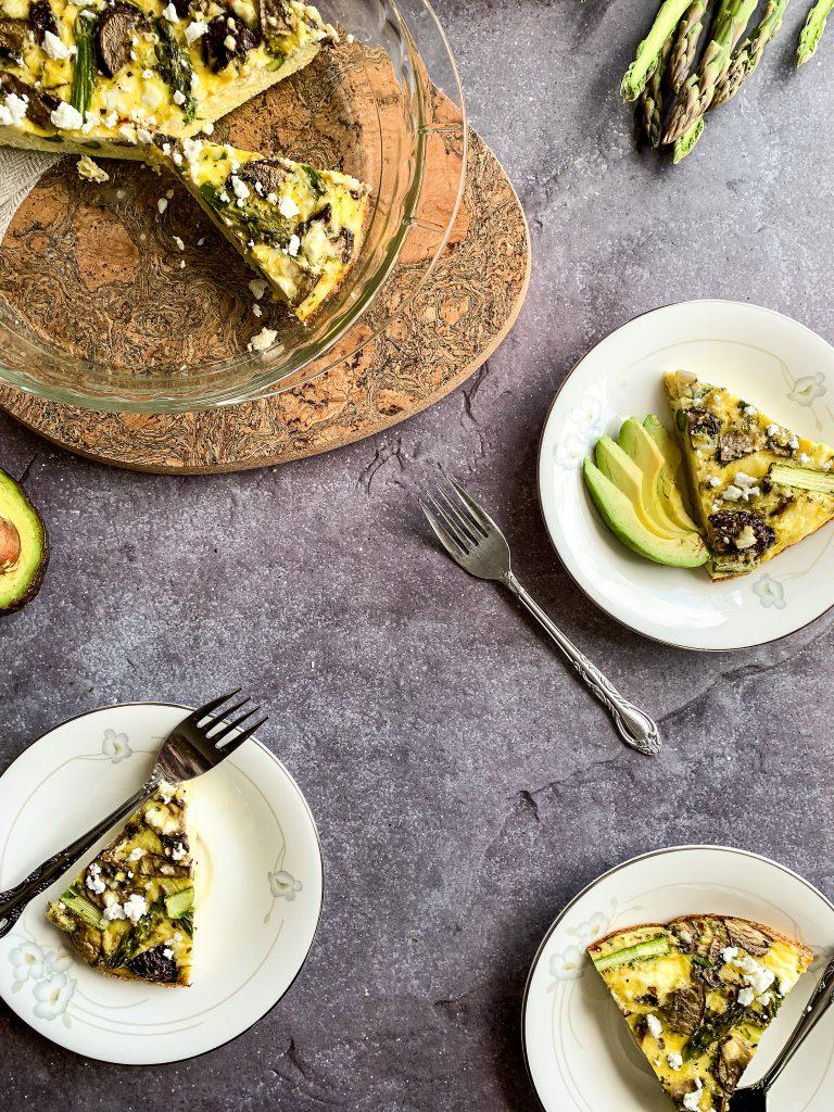 asparagus shallot frittata spring